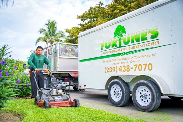 Mowing & Edging | Marco Island Lawn Services Provided by Fortune's Lawn, Land & Tree Service